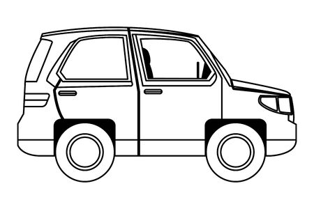SUV car vehicle side view cartoon vector illustration graphic design. Banque d'images - 130729905