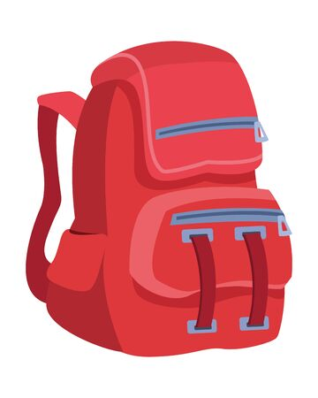 School backpack education cartoon isolated ,vector illustration .graphic design. Çizim