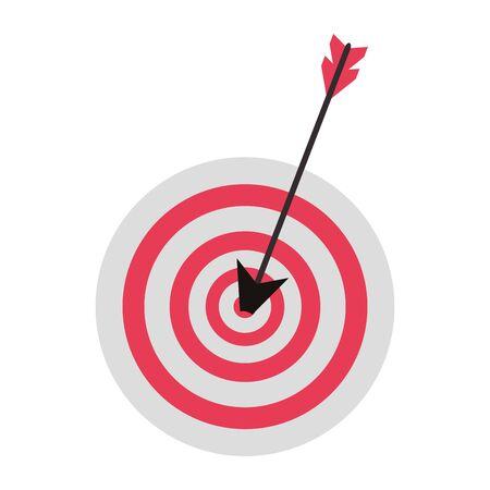Il simbolo di affari del bersaglio per le freccette ha isolato il design grafico dell'illustrazione di vettore