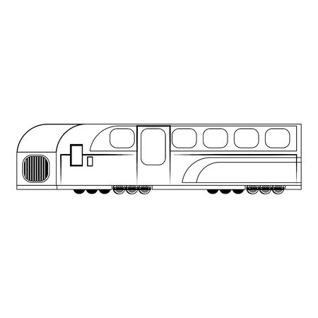 Train public transport isolated symbol vector illustration graphic design