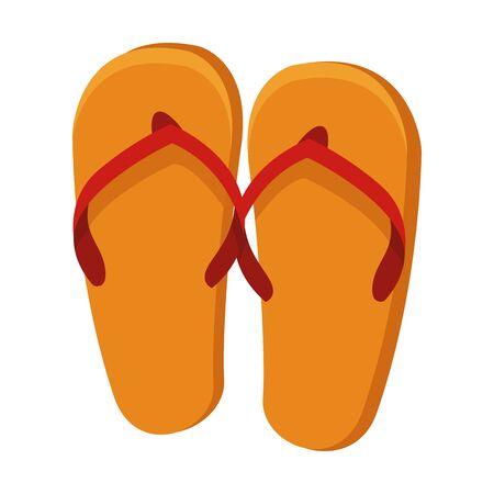 Flip flops sandals footwear cartoon vector illustration graphic design