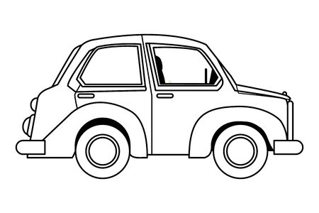 Vintage classic car side view cartoon vector illustration graphic design. Banque d'images - 130928705