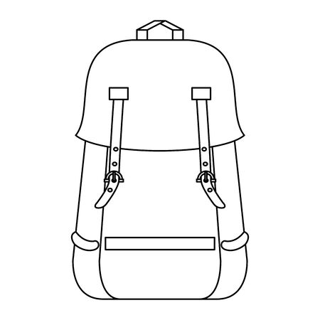 Backpack with passport and pen symbol vector illustration graphic design