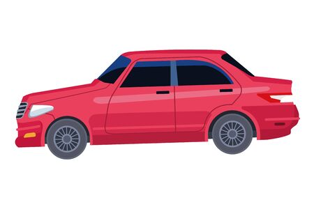 car vehicle transport side view icon cartoon vector illustration graphic design