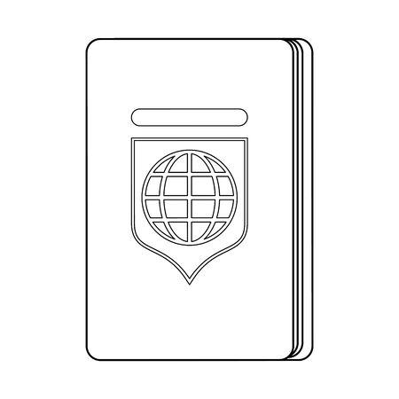 Passport travel document isolated symbol vector illustration graphic design