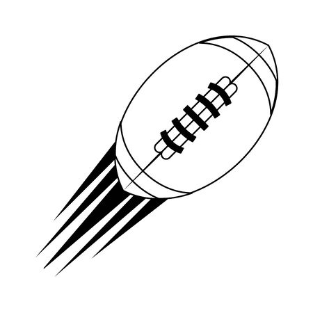 american football sport game ball cartoon vector illustration graphic design Ilustração