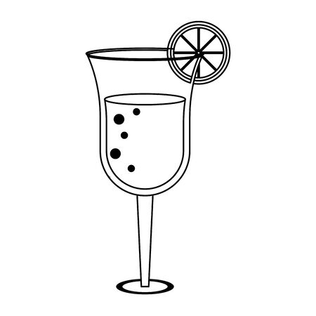 Summer cocktail glass cup with lemon vector illustration graphic design Archivio Fotografico - 129817055