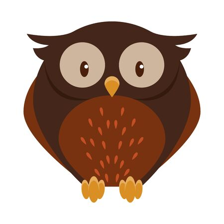 Cute owl bird cartoon isolated vector illustration graphic design Illusztráció