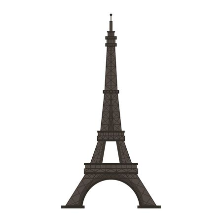 Eiffel tower paris monument isolated