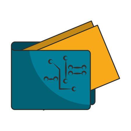 Cryptocurrency wallet with money symbol vector illustration graphic design Zdjęcie Seryjne - 129817125