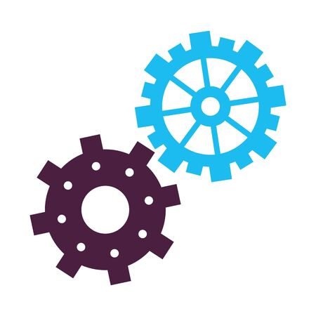 technology gears support and maintenance cartoon vector illustration graphic design