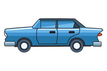 Vintage classic sedan car vehicle vector illustration graphic design.
