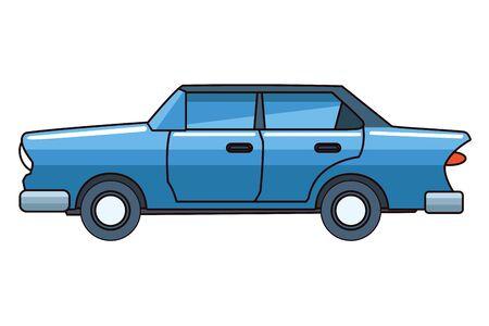 Vintage classic sedan car vehicle vector illustration graphic design. Standard-Bild - 129817217