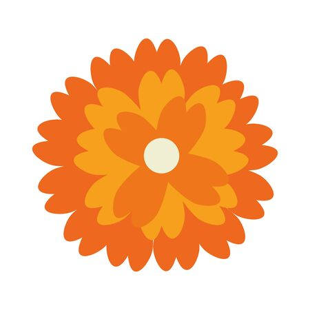 flower nature floral decoration isolated cartoon vector illustration graphic design