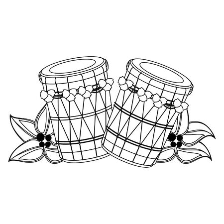 drum mridangam icon cartoon isolated vector illustration graphic design Çizim