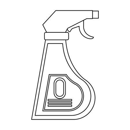 Bouteilles de savon désinfectant avec distributeur symbole isolé illustration vectorielle design graphique.
