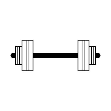 fitness sport healthy lifestyle, barbel dumbbell isolated cartoon vector illustration graphic design Çizim