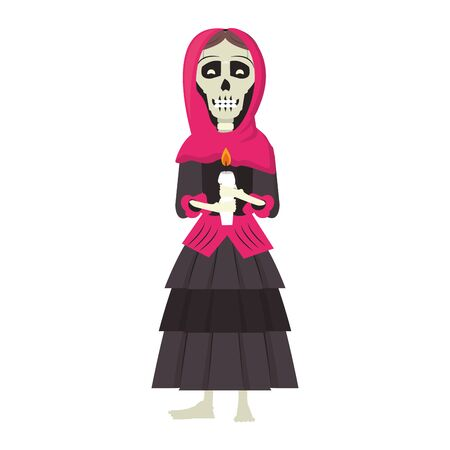 mexican culture mexico festival, dia de los muertos skull cartoon vector illustration graphic design Stok Fotoğraf - 130775894