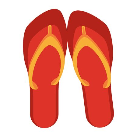 Flip flops sandals footwear cartoon isolated vector illustration graphic design