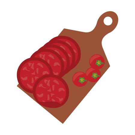 Barbecue food burgers and tomato on table vector illustration graphic design