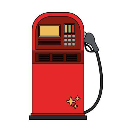 Fuel dispenser machine isolated symbol vector illustration graphic design