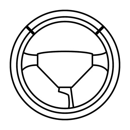steering wheel car vehicle part cartoon vector illustration graphic design