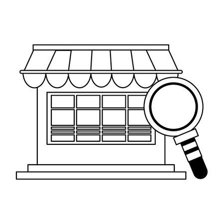 delivery commerce online store sales cartoon vector illustration graphic design