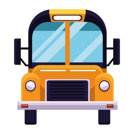 School bus public vehicle frontview ,vector illustration .graphic design. Иллюстрация