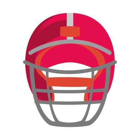 american football sport game helmet uniform protection accesory cartoon vector illustration graphic design