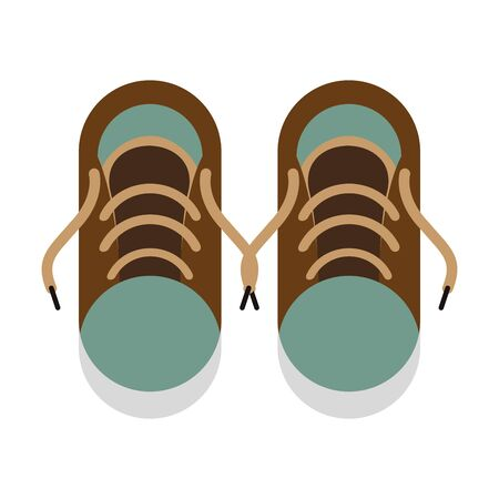 green sneakers for summer holidays isolated symbol Vector design illustration