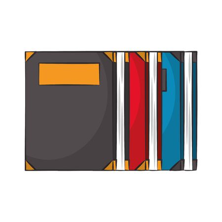 Set of books education isolated cartoon vector illustration graphic design
