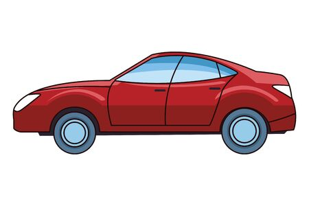 Modern sedan car vehicle sideview vector illustration graphic design.
