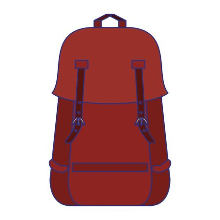 Backpack with passport and pen symbol  イラスト・ベクター素材