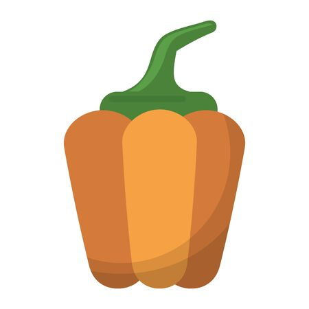 Pepper fresh vegetable isolated vector illustration graphic design