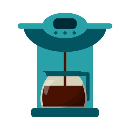 Coffee espresso machine with kettle vector illustration graphic design Archivio Fotografico - 130137160