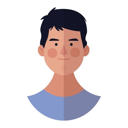 young man face cartoon vector illustration graphic design