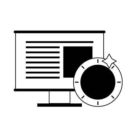Bitcoin cryptocurrency coin on whiteboard symbol vector illustration graphic design Illusztráció