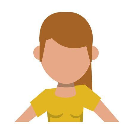 woman avatar cartoon character isolated portrait vector illustration graphic design Ilustração