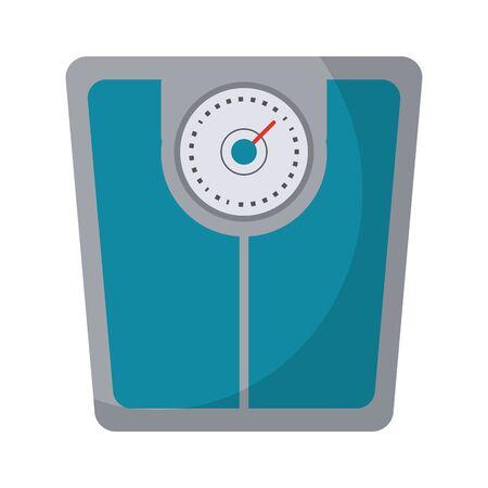 Fitness body scale symbol vector illustration graphic design