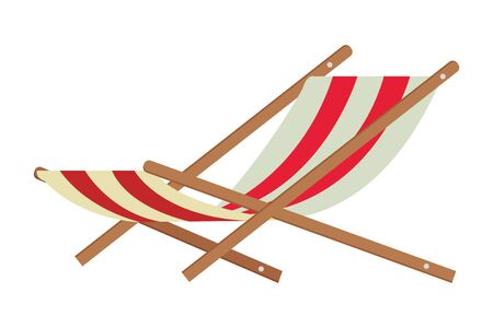 beach chair icon isolated vector illustration graphic design