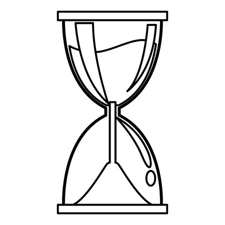 sand clock cartoon vector illustration graphic design