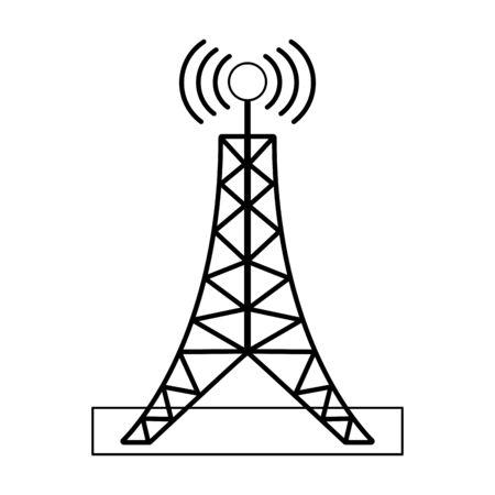 Telecommunication antenna tower symbol Design