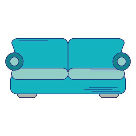 Sofa armchair furniture isolated vector illustration graphic design