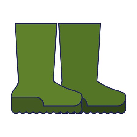Garden boots footwear isolated icon ilustration vector 스톡 콘텐츠 - 130135397