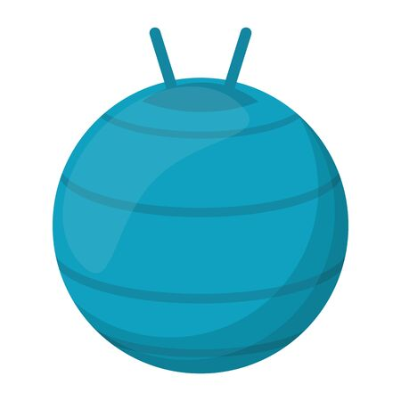 Fitness ball equipment isolated vector illustration graphic design Stock fotó - 130135594