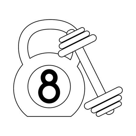 Ketlebell and dumbbell gym equipment Designe