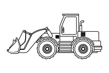 Construction vehicle backhoe machine vector illustration graphic design Иллюстрация