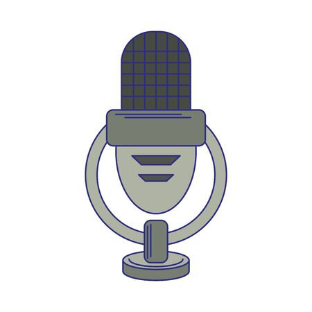 vintage microphone symbol isolated vector illustration graphic design
