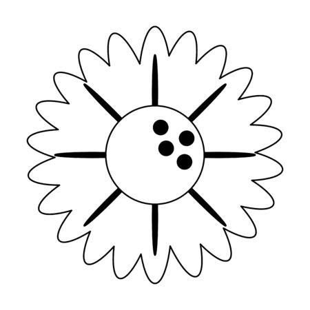 Beautiful flower cartoon isolated Designe