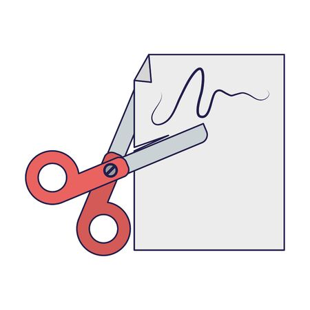 School utensils and supplies scissors with paper Designe Çizim